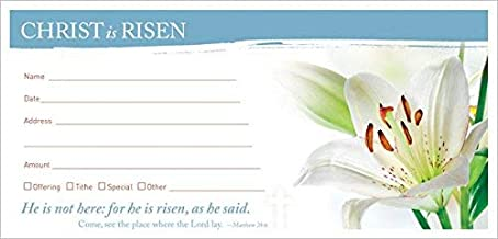 Concordia Publishing House 93072 Offering Envelope - Alleluia Christ is Risen - Pack of 100