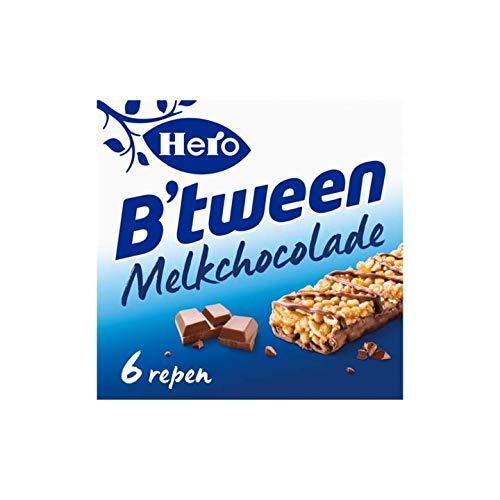 Leche De Chocolate Cerealbar | Hero | Barra de grano B'tween Chocolate con leche 6 x 25 g | Peso total 150 gramos