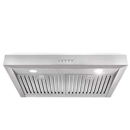 Cosmo UC30 30-in Under-Cabinet Range Hood 760-CFM with Ducted / Ductless Convertible Duct , Kitchen...
