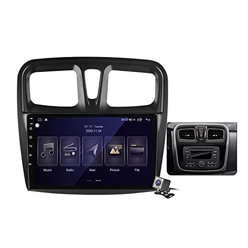 Buladala Android 11 Radio estéreo para Coche con 9″ Pantalla Táctil para Renault Logan 2 Sandero 2012-2019 Soporta Bluetooth FM RDS Radio/Navegacion GPS/Carpaly Auto (Cámara de Respaldo),Type b,M100S