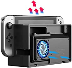 ElecGear Switch Dock Cooling Fan, External Turbo Cooler for Nintendo Switch Original Docking Station, Snap-on Design, USB Powered, Integrated Cable