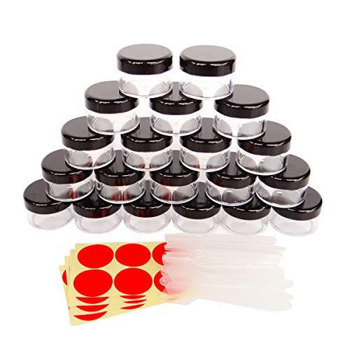 GreatforU 20 Stück 15g Leere Probengläser Behälter Proben, 15ml Transparente Kosmetik Behälter...