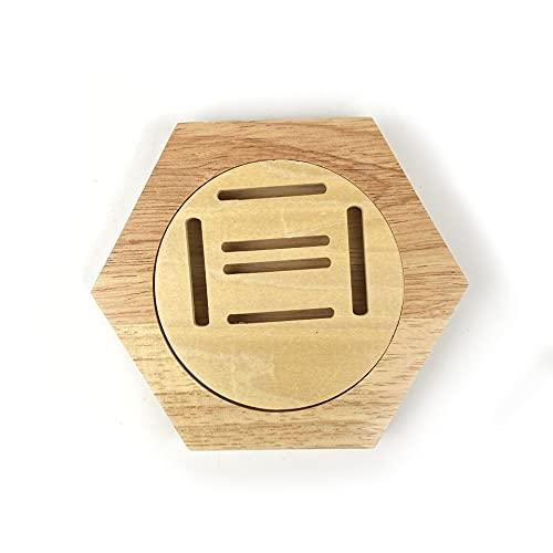 COKEYU Soporte Hexagonal de Madera para medallas: Mostrar Guerra Medallas retiradas,brazaletes,charreteras para Mostrar con Orgullo Sus logros