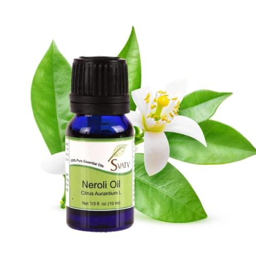 SVATV Aceite esencial Neroli Aceite de aromaterapia de grado terapéutico Aceite de fragancia para difusor Yoga Masaje y DIY Cuidado Personal 10 ml