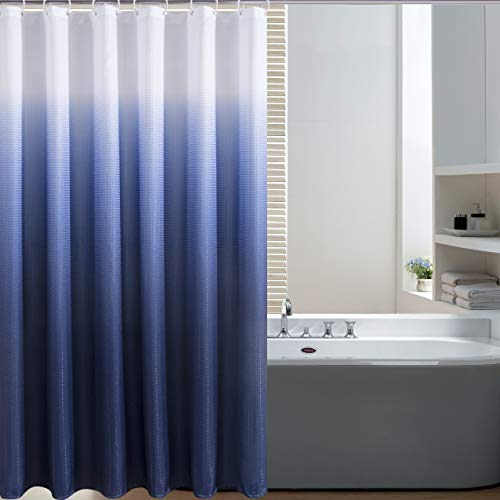 Navy Ombre Shower Curtain