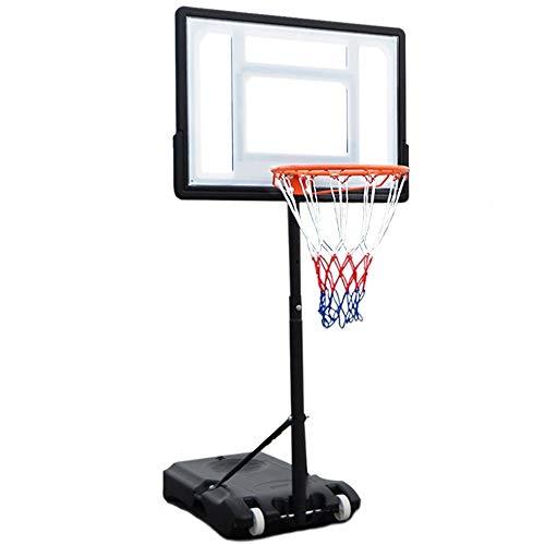 Tragbare Basketballbretter Hebe Mobil Innen Zuhause Outdoor Training Boden Schießen Spielzeugnorm Basket Basketball Ständer Basketballbretter (Color : White, Size : 1.20-2.10m)