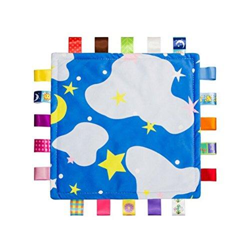 toymytoy Baby Tröster Spielzeug Komfort Decke Sicherheit Schmusedecke für Neugeborene Baby (Sternenhimmel)