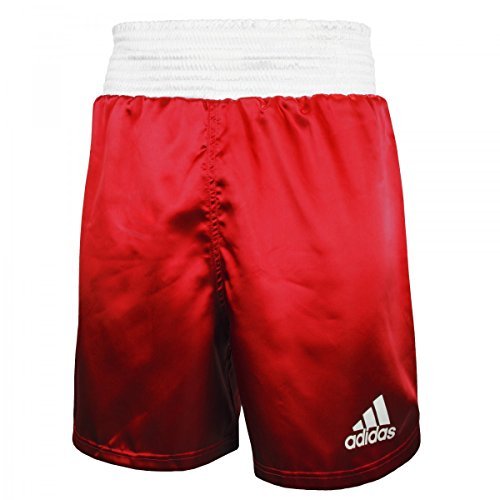 Adidas Box-Shorts - rot-weiß Large