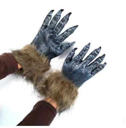 WSJDE Halloween Maske Show Up Big Ear Die Gorilla Maske Handschuhe Naturlatex Material Grün Latex Party Spielzeug Film Thema Requisiten Versorgung1