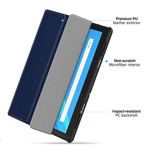 MoKo Hülle Kompatibel mit Lenovo Tab M10 (TB-X605F)/TB-X505F, Ultra Slim PU Leder Tasche Schutzhülle Standfunktion Kompatibel mit Lenovo Tab M10 (TB-X605F) 10.1 2018 / TB-X505F - Indigo