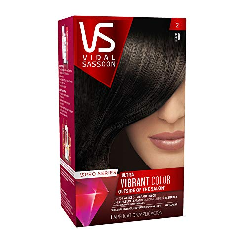 Vidal Sassoon Pro Series Hair Color, 2 Black, 1 Kit by Vidal Sassoon