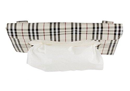 Nalmatoionme Auto Cuir PU Pare-soleil Boîte à mouchoirs Serviette en Papier support