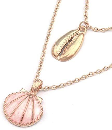 NC110 Collares llamativos de Concha de aleación de Esmalte Grande Colgantes para Mujer Estilo oceánico Día de San Valentín YUAHJIGE
