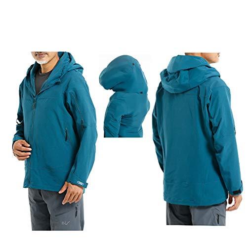 YXYECEIPENO Airbagjacke Für Herren Airbagjacke Mit Outdoor-Anzug APP Echtzeitüberwachung 6 Airbags Schützen Ihren Körper In Mehrere Richtungen (Color : Blue, Size : Large)