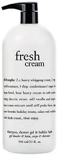 Philosophy Fresh Cream Shampoo, Shower Gel & Bubble Bath All in One 32oz