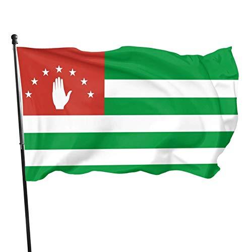 La bandera de Abjasia Banderas de 3 x 5 pies Banderas para exteriores 100% poliéster translúcido de una sola capa de 3 x 5 pies