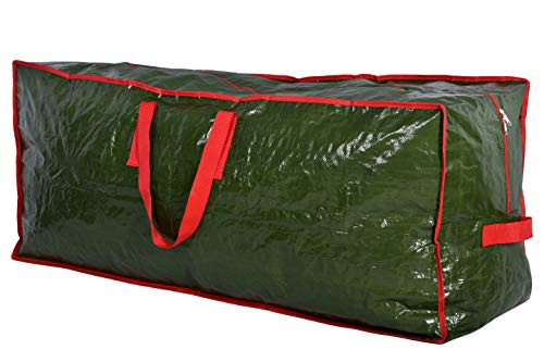 Christmas Tree Storage Bag  Stores a 75 Foot Artificial Xmas Holiday Tree Durable Waterproof Material to Protect Against Dust Insects and Moisture Zippered Bag with Carry Handles Green