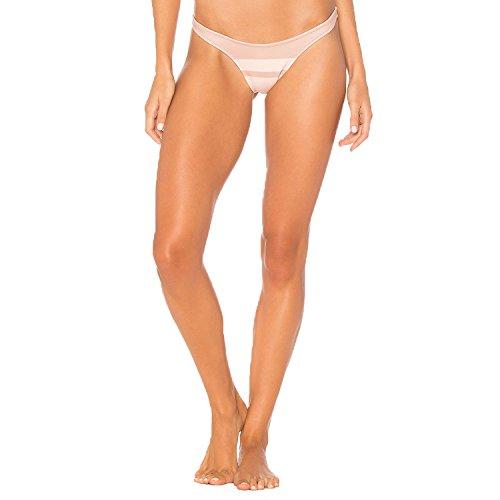 Cali Dreaming Womens Crux Bikini Bottom Nude Stripe Medium