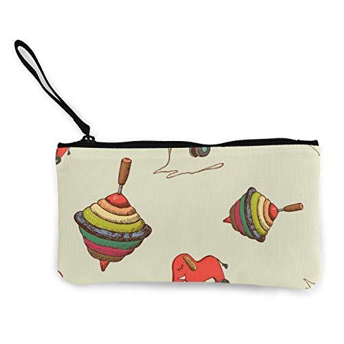 Canvas-Münzen, Baby-Spielzeug, Geldbörse, Reißverschluss, Kosmetiktasche, multifunktional, Make-up-Tasche, Handytasche, Stifte-Paket mit Griff