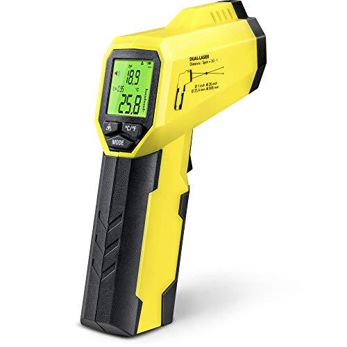TROTEC BP25 Pyrometer, Taupunktscanner, Infrarot Thermometer, Temperaturmessgerät -50°C bis +260 °C, Berührungslos Thermometer Digital LCD, Hintergrundbeleuchtbares Display