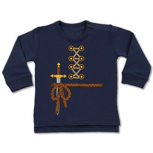 Shirtracer Karneval und Fasching Baby - Ritter Kostüm Fasching - 12/18 Monate - Navy Blau BZ31 - Baby Pullover