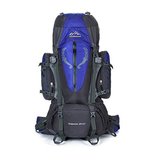 Backpack éclairage Grande contenance Sac à Dos d'alpinisme/Sports de Plein air Sac/Sacs/Sac à Dos de Camping 80l-Blue 90L