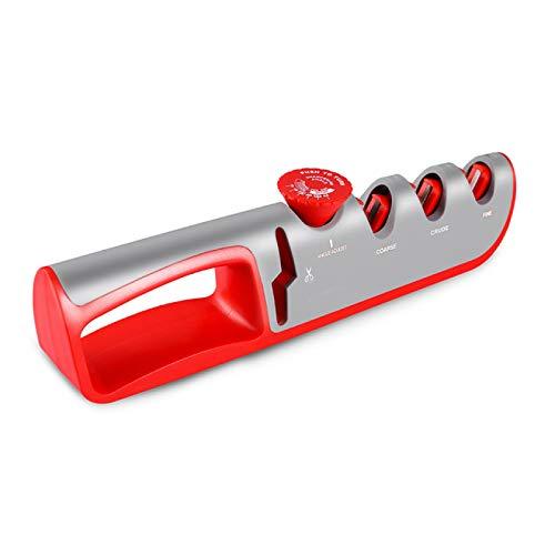 BECCYYLY Aiguiseur de Couteaux 4 en 1 avec Angle réglable, adapté à différents Ciseaux d'affûtage de Couteaux Gadget de broyeur Professionnel | Aiguiseur de Couteaux