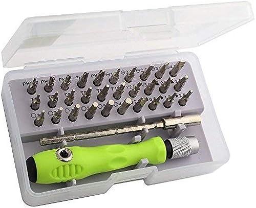 veLx 32 in 1 Interchangeble Multipurpose Mini Screwdriver Set Magnetic Slot Wrench Bits Repair Tools Kit Set Combination Screwdriver Set for Home Appliance Laptop Mobile Computer