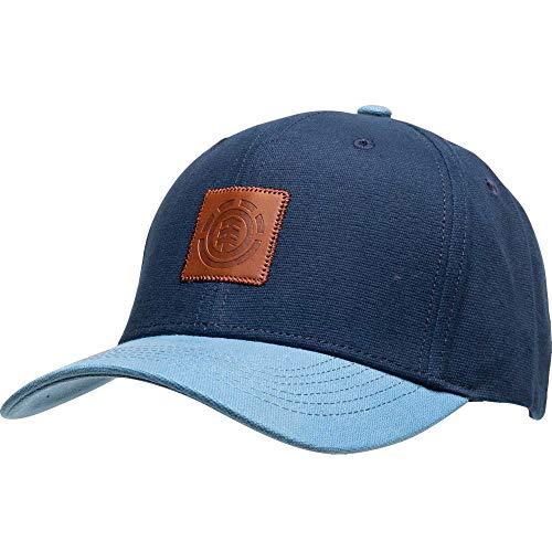 Element Treelogo - Cappello da baseball con visiera curva in cotone, colore: Indaco
