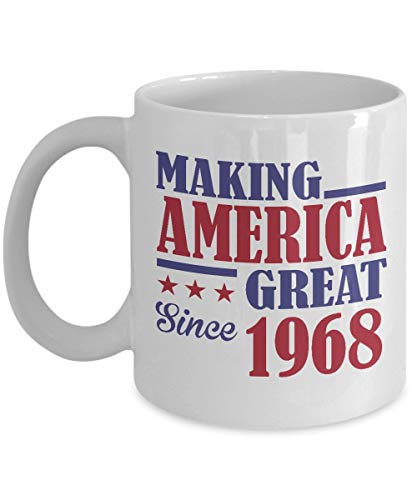 N\A 50.os Regalos de cumpleaños para Mujeres Hombres Gran 1968 Feliz año de 50 años Taza de café Divertida Los Mejores Regalos del día del Padre de la Madre para Ella él Esposa Esposo mamá papá