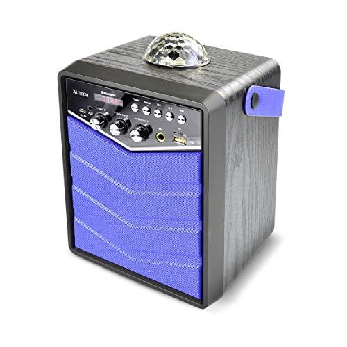 X4-TECH Bobby Joey Rockstar - Mobiler Bluetooth Lautsprecher mit USB SD Karaoke