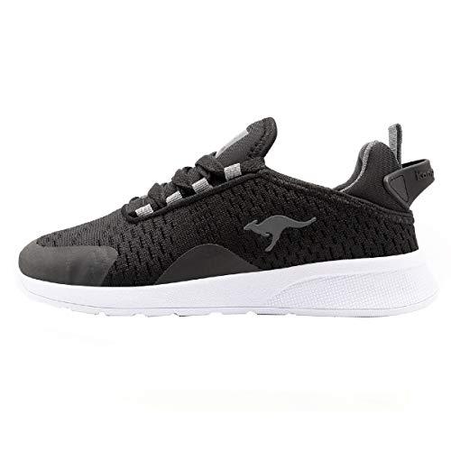 KangaROOS KF Flex Sneaker, Schwarz (Jet Black/Steel Grey 5003), 33 EU