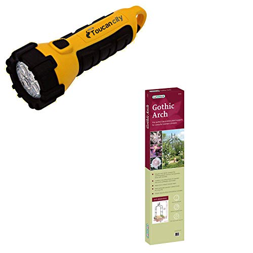 Toucan City LED Flashlight and Gardman 4 ft. 7 in. W x 8 ft. 5 in. H (Above Ground) x 19 in. D Gothic Arch R351