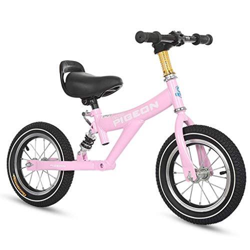 Prima Bici Specialized 12 Pollici Sport Balance Bike, Senza Pedali Training Bikes per 1/2/3/4/5/6 Anni Old Boys, Senza Pedali Walking Balance Bike Nero/Blu/Rosa ZHAOFENGMING
