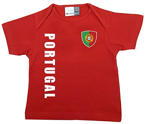 aprom Portugal Baby T-Shirt - Trikot - WM EM No.1 R POR (80/86)