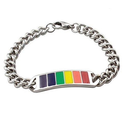 Gudeke Joyería de la pulsera arcoiris del orgullo Gay unisex Hombres