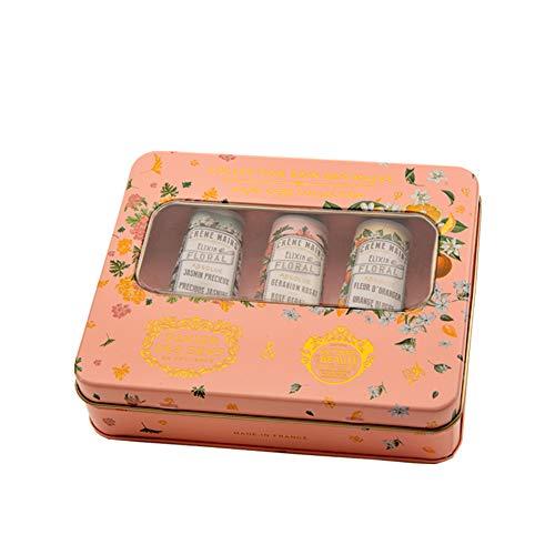 Panier Des Sens Absolues Metallbox mit 3 Handcremes a 30ml / Geranie, Jasmin & Orangenblüte