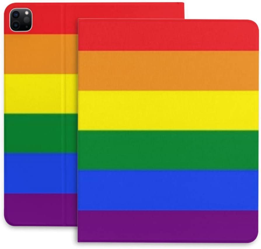 Case for Ipad Pro 12.9 Gay Flag Pride Rainbow Protec LGBT Vector Rare Seasonal Wrap Introduction