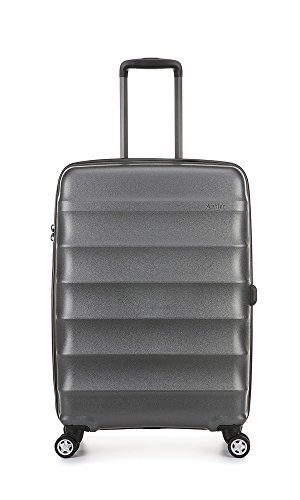 Antler Juno Metallics, Durable & Lightweight Hard Shell Suitcase - Colour: Pewter, Size: Medium