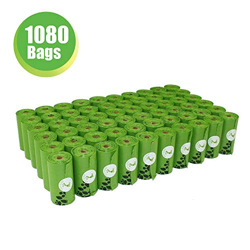 PET N PET Poop Bags Earth-Friendly 1080 Counts 60 Rolls Large Unscented Dog Waste Bags Doggie Bags (Green refills)