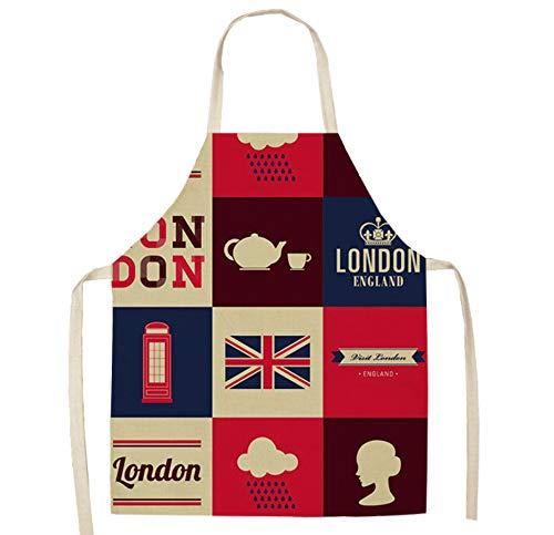 JZZCIDGa Kleidung Personalisierte Backschürzen Cartoon Weiße Tasse Weiche Baumwollwäsche Für Frauen Männer - Koch Chef Schürze - Ideale Geschenkidee Für Damen