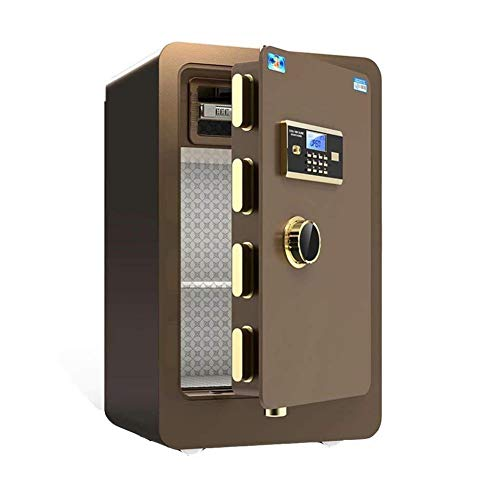 GGDJFN Safe Safes For Safe Box Cabinet Safes,For Office Or Home Use,Anti-Theft Password Unlock Cash Safety Box, A4 Documents, Laptop Computers, Jewels (Color : Brown, Size : 40 * 36 * 60cm)