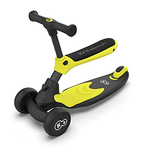 Trottinettes Classiques éLectriques Freestyle Pliable 3 en 1 Flash DéTachable Trois Roues,Yellow