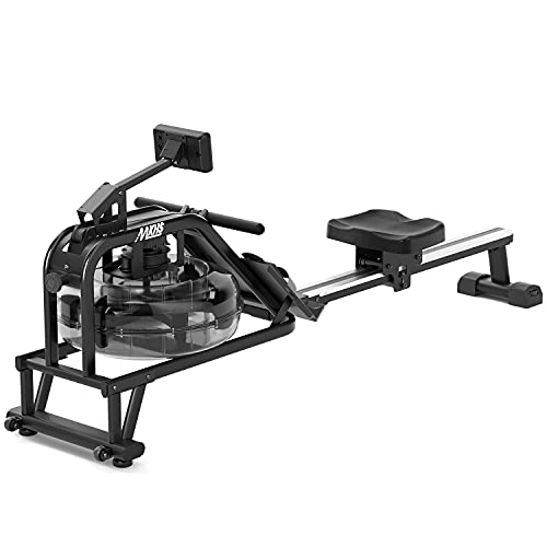 MKHS Water Rowing Machines for Home use 330lbs Weight Capacity, Water Rower Machine Exercise Equipment & Health and Fitness Rowing Machine with Large LCD Display Cardio Machines for Home Gym use