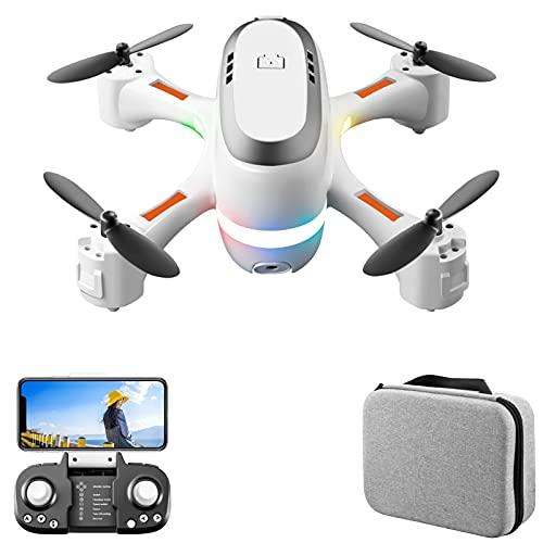 GoolRC Mini RC Drone RC Quadricottero con Funzione modalità Senza Testa Un Pulsante Decollo Atterraggio Un clic Ritorno Pacchetto luci Colorate Borsa di immagazzinaggio