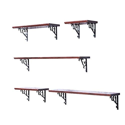 Étagères flottantes de mur de fer en métal et bois pour la cuisine de salon de barre / étagère de cube accrochant de mur de LOFT pour la chambre comme support de stockage d'étagère / Cadre d'unité flottante de panneaux muraux de style industriel rétro comme conception de décoration de mur / disponible dans une variété de tailles-2.5 cm d'épaisseur (80*20 CM)