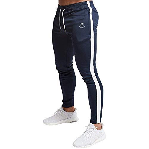 Samy ジョガーパンツ メンズ トレーニングパンツ ジム フィットネス スリム スウェットパンツ CK-127 ダークブルー XL