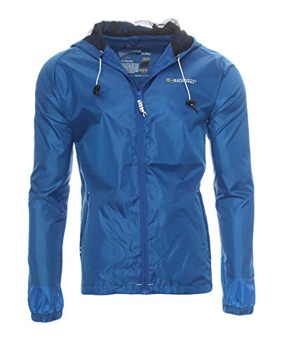 Chubasquero cortavientos de entretiempo de Geographical Norway azul real M
