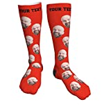 Tanwenling33 Calcetines Personalizados con Cara, Calcetines Personalizados con Fotos, Calcetines con Fotos de Cara de Gato Perro, Calcetines Personalizados Navidad Ho Hombre Mujer Pareja