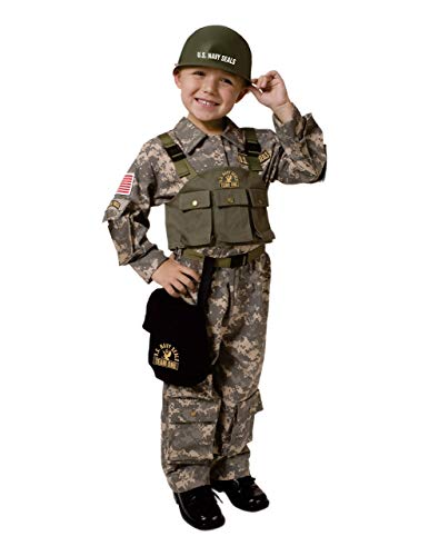 Dress-Up-America Army Costume - Soldier Costume For Boys and Girls - U.S. Navy Seal Special Forces Dress-Up For Kids